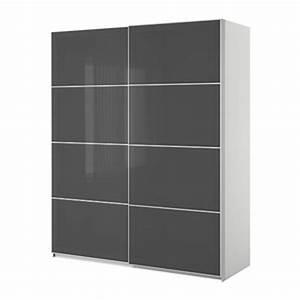 Ikea Kleiderschrank Schiebetueren : ikea pax kleiderschrank mit schiebet ren wei uggdal grau ~ Lizthompson.info Haus und Dekorationen