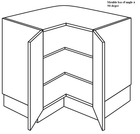 element cuisine pas cher meuble bas angle cuisine