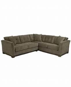 Elliot fabric microfiber 2 piece sectional sofa created for Elliot fabric microfiber sectional sofa 3 piece