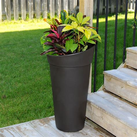 creston tall planter  outdoor planters