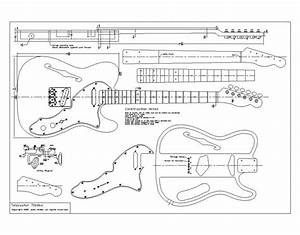 routing template for tele body and neck telecaster With stratocaster routing template