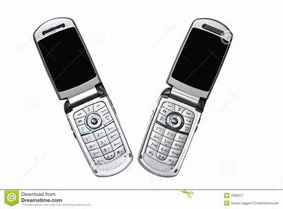 Phones Pair Cell Isolated Copy Royalty