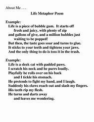 funny metaphor poems