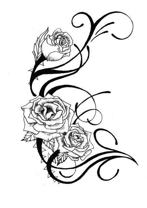 rose tattoo design clipart  clipart