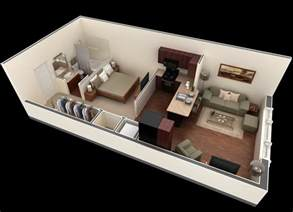 Narrow Rectangular Living Room Layout by Plano De Departamento Muy Peque 241 O Springs Apartments