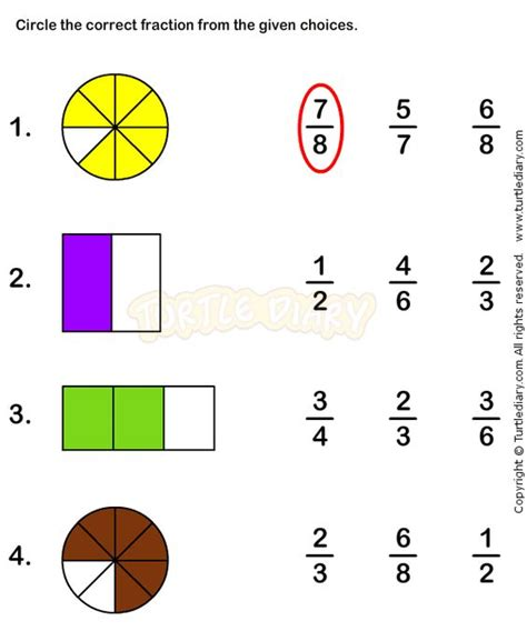 Basic Fraction Worksheet  1000 Images About Fractions Worksheets On Pinterest Learn Html
