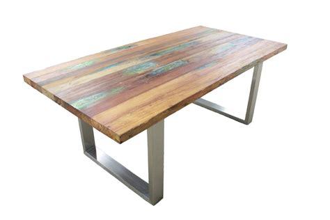 tisch ausziehbar holz tisch aus recyceltem holz der tischonkel