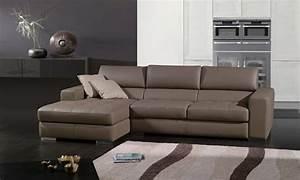 Canapé 4 Places Cuir : canap d 39 angle cuir pampelune canap cuir 4 places 275x157x86 ~ Teatrodelosmanantiales.com Idées de Décoration