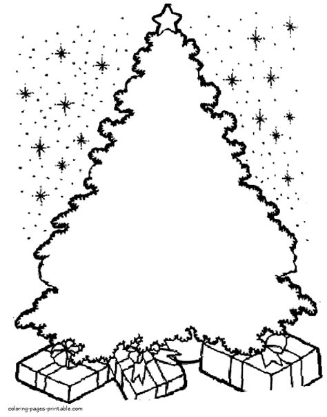 tree template coloring sheets blank christmas tree coloring page