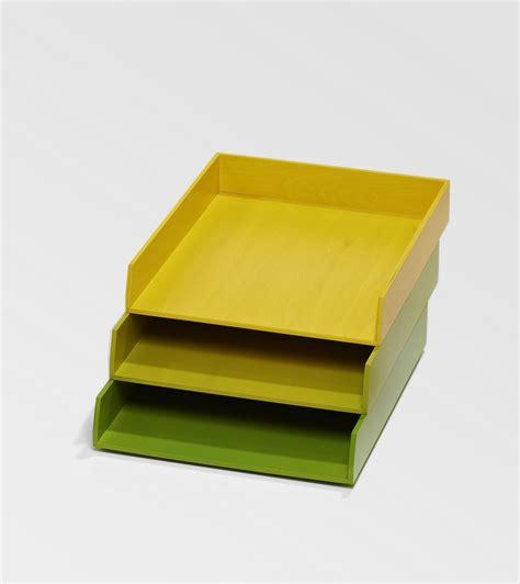 rangement dossiers bureau bannettes de bureau jaune vert pour le rangement kollori com