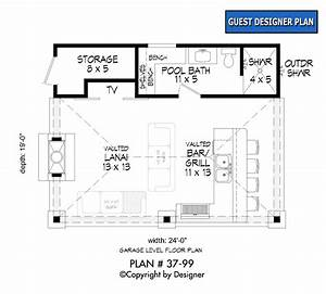 Pool, House, Plan, 37-99