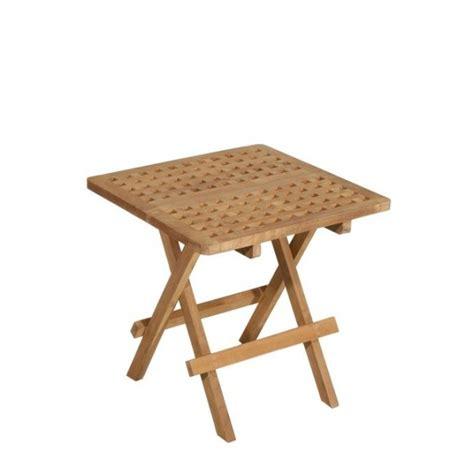 table en teck pliante table d appoint de jardin en teck carr 233 e pliante 50cm summer pier import