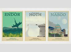Vintage Illustrated Movie Travel Posters Cool Material