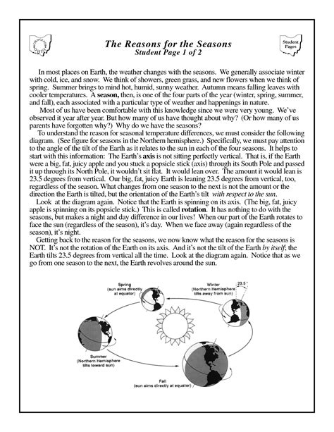 14 best images of earth s revolution worksheet 6th grade