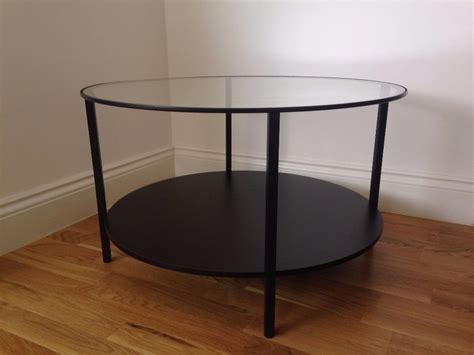 vittsj coffee table black brown vittsjö coffee table ikea used glass brown black round