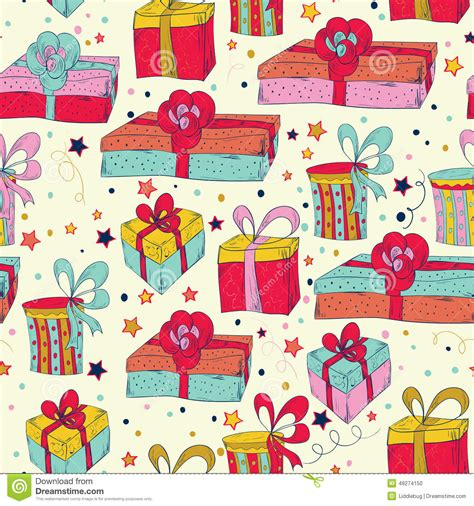 happy birthday seamless pattern stock vector image