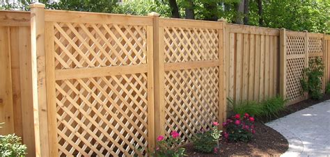 Günstige Zäune Aus Holz by Designing Cover Wood Lattice Fence Panels Design Ideas
