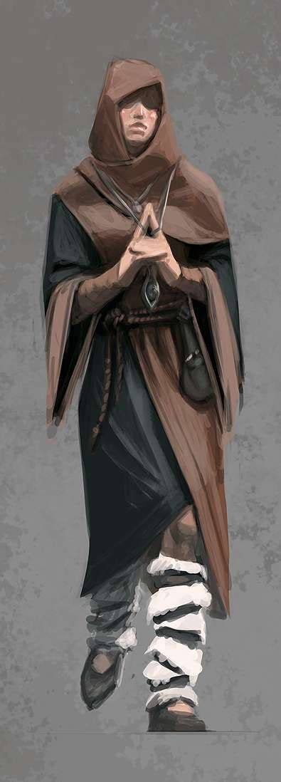 Concept Art Of Female Mage Apprentice Robes From The Elder