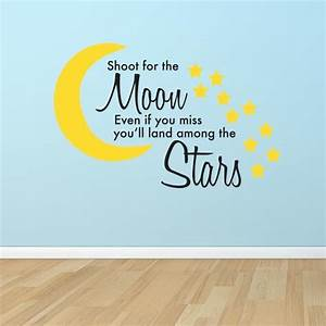 Wall decal best shoot for the moon wall decal blue moon for Best shoot for the moon wall decal