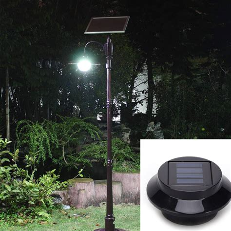 bright yard l solar panel garden light 3 led lights