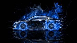 Honda Accord Coupe Side Fire Abstract Car 2014 el Tony