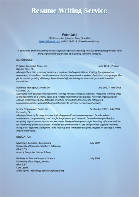 resume and cv writing service useful tips for professional level resume writing resume
