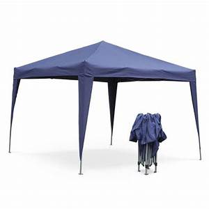 Tonnelle De Jardin Pliante : tonnelle pliante 3 x 3 m tecto bleu tente de jardin pop up pergola pliable barnum ~ Nature-et-papiers.com Idées de Décoration