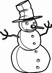 Snowman Black And White Christmas Gift Clipart - Clipart ...