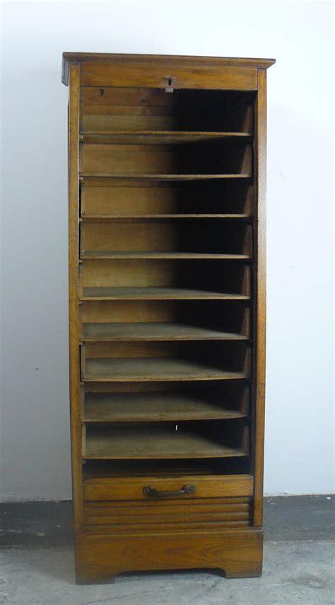 oak tambour door cabinet