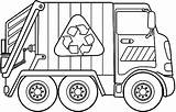 Coloring Garbage Truck Pages Comments sketch template
