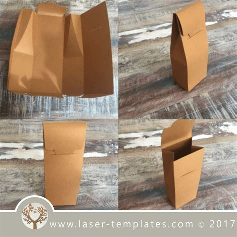 paper box template  laser  hand cutting vector