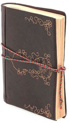 barnes and noble journals leather embroidered brown journal 5x7 9781402875502