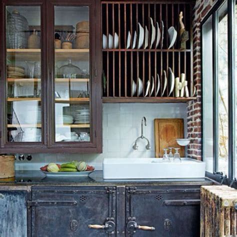 Rustic industrial kitchen. Love.   Home: Kitchen & Dining