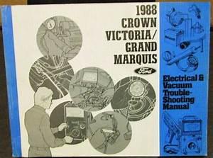 1988 Ford Mercury Electrical  U0026 Vacuum Diagram Crown