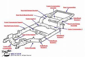 1969 Corvette Crossmembers  U0026 Body Brackets Parts