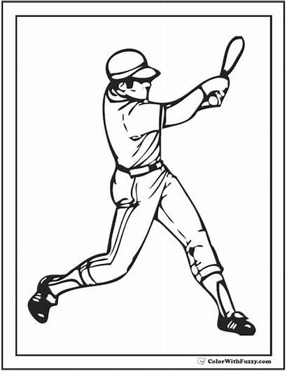 Baseball Coloring Pages Pdf Printable Marlins Bat