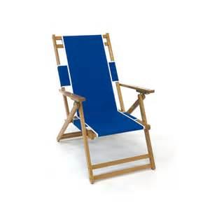 oak wood beach chair with footrest 9 oz marine grade