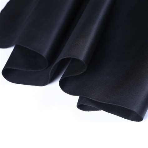 Thick Cowhide Leather by Junetree Leather Hides Cow Skins Black Thick