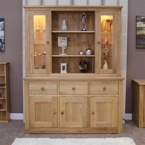 Kingston Solid Modern Oak Furniture Large Dresser Display