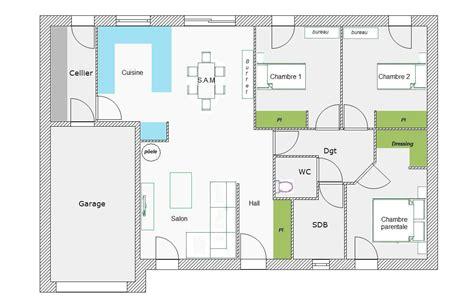 plan maison plain pied 3 chambres avec garage plan maison plein pied 90m2 free with plan maison plein