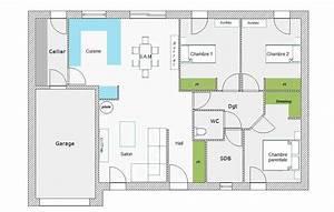 plan maison plein pied 90m2 free with plan maison plein With plan maison 90m2 plain pied