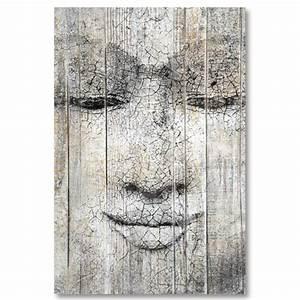 Tableau En Bois Décoration : tableau bois palette bouddha ~ Teatrodelosmanantiales.com Idées de Décoration
