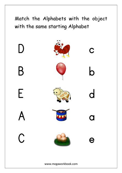 free worksheets alphabet matching megaworkbook