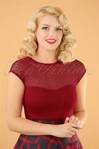 Miss Fancy Heart Top Red  Fancy