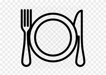 Dinner Plate Clip Clipart Dishes Icon Transparent