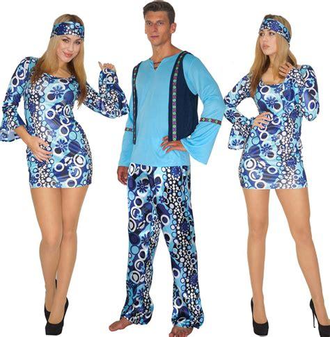 70er jahre mode herren hippie kost 252 m 60er 70er jahre damen herren blau gr s m l partnerkost 252 m ebay