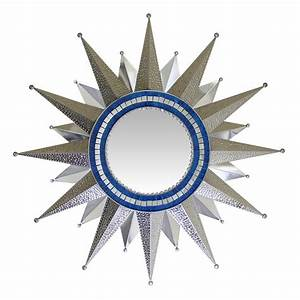 Large Tin Mirrors Collection - Star Glass Mirror - MIR350