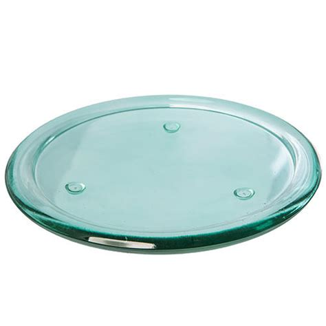 pillar candle plate vibrant coloured glass pillar candle plate plant 4434