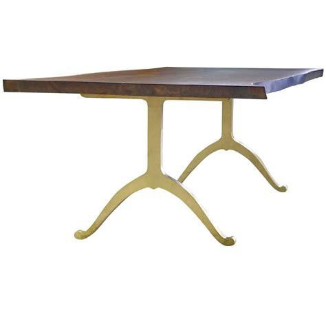 live edge black walnut dining table sentient signature live edge black walnut slab table brass