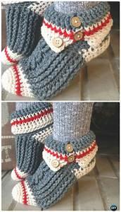 Crochet, Women, Slippers, Free, Patterns, Diy, Instructions